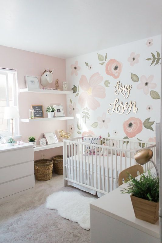 Enchanting Baby Girl Nursery Area Ideas (Images) - Welcome to our baby girl nurs...