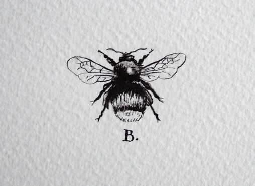 Tattoo ideas | minimalist | tiny tattoo | Black and white | Bee | Queen B