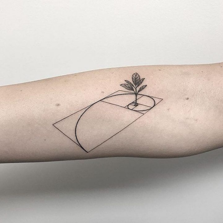 lovely minimalist art work by from #tattogirl #tattofeminina #tattomasculina #ta...