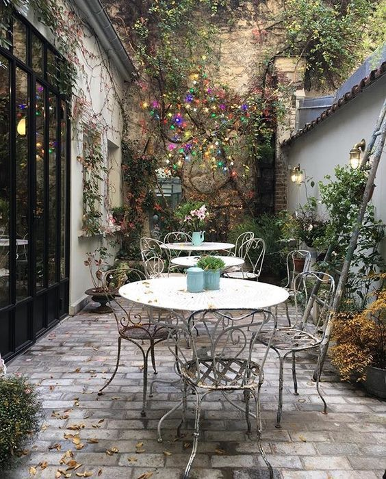 Patio;Courtyard; Yard;Balcony; Outdoor Garden; Home Decor; Courtyard Decoratio...