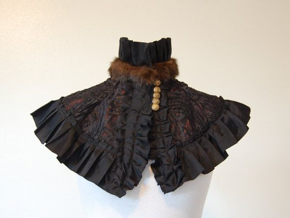 Rust and Black Victorian high fashion goth anime by hhfashions, $45.00