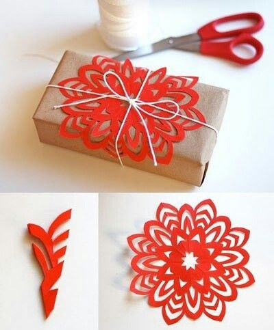 Great idea to decorate a christmas present!