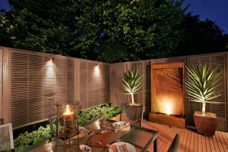 simple courtyard garden lighting photos 450x300 Small Courtyard Garden Lighting ...