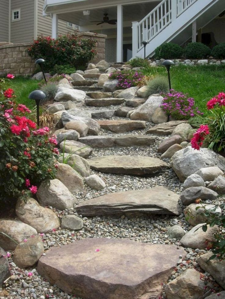 55 Gorgeous Rock Pathway Design Ideas To Enhance Your Beautiful Garden 19 – DE...