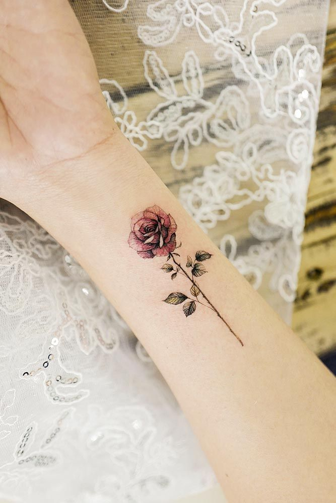 24 Rose Tattoos And Their Origin, Symbolism, And Meanings    #tattogirl #tattofe...