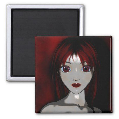 Mesmerize Vampire Goth Anime Fantasy Magnet #gothicstyle #gothicart #gothic