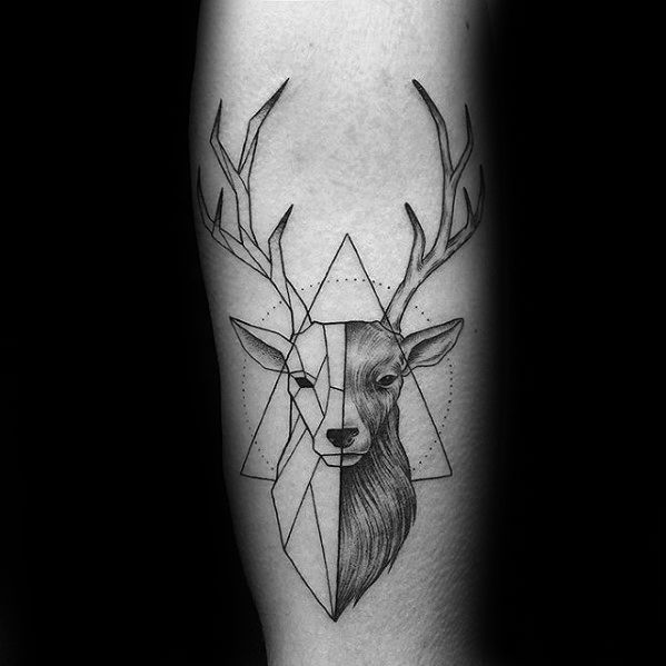 60 geometrische Tier Tattoo Designs für Männer - Cool Ink Ideas  #designs #geo...