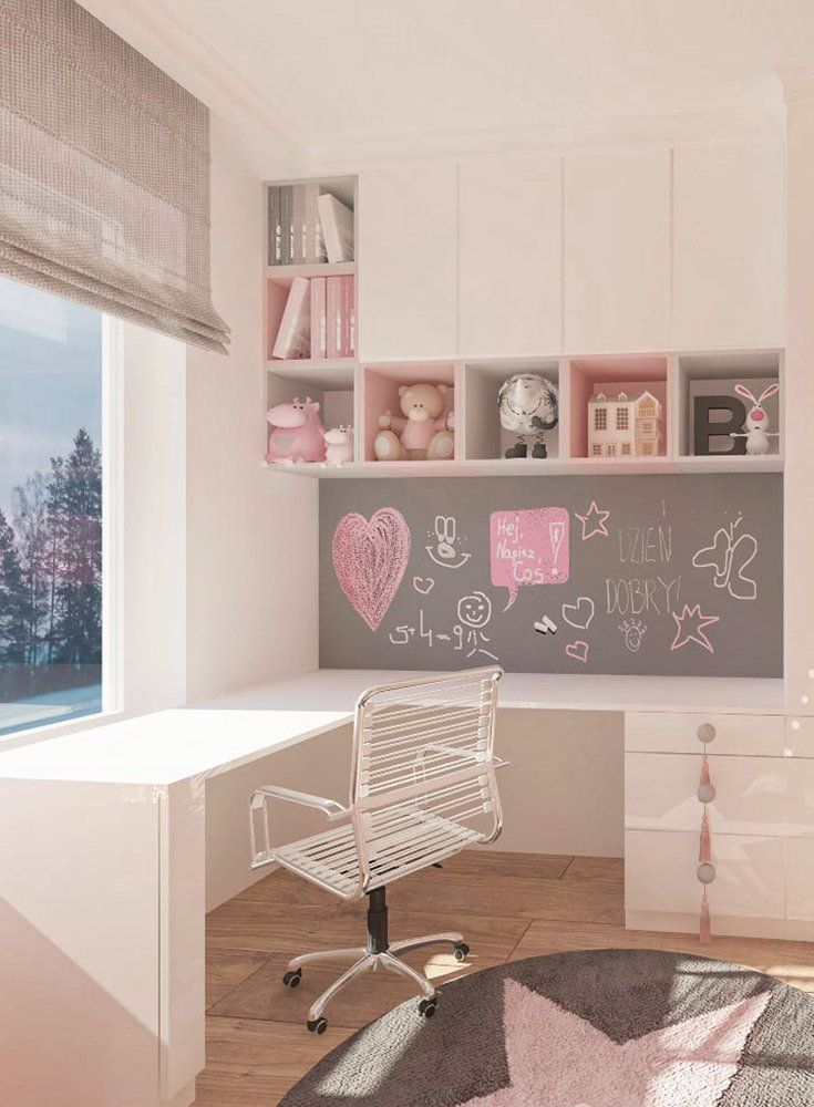 Kinderzimmer-Madchen-Rose-Kindertapete-Sterntapete-Schrank-Room-For-Kids