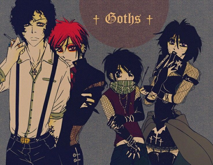 South park goth anime version. i think i would watch south park more if it was a...