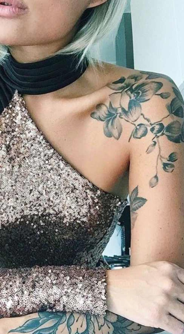 30 of the Most Popular Shoulder Tattoo Ideas for Women - #cherryblossom #Ideas #...