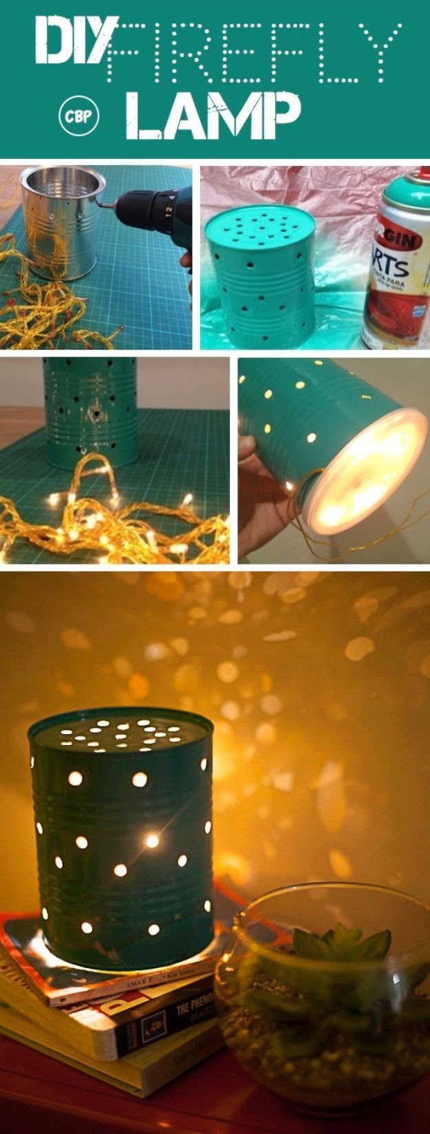 DIY Teen Room Decor Ideas for Girls | DIY Firefly Lamp | Cool Bedroom Decor, Wal...