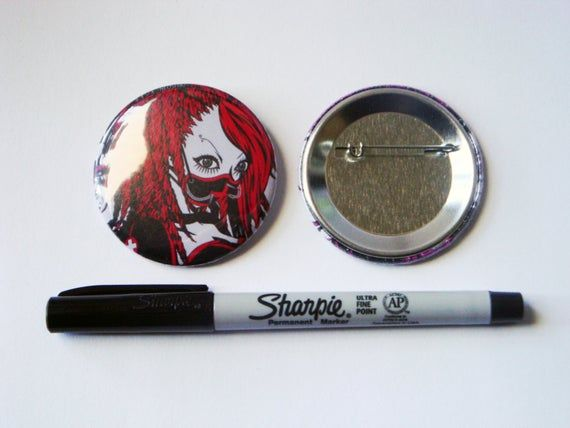 "Kango-shi Industrial Goth Anime 2.25"" Button"
