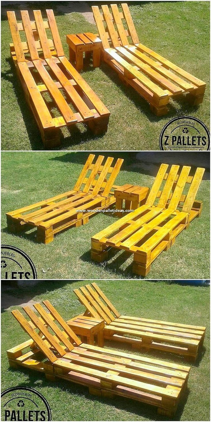 If you have been thinking about placing a creative wood pallet sun lounger in yo...