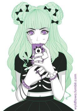 goth anime girl tumblr - Google Search