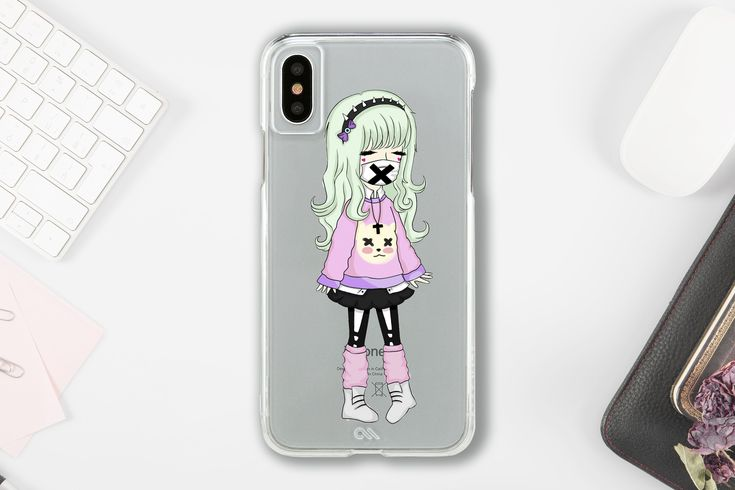 Pastel goth anime phone case - Creepy cute samsung s9 case - iphone x case - pix...