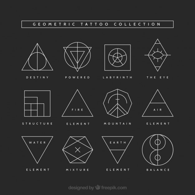 Geometric tattoo collection. Download thousands of free vectors on Freepik, the ...