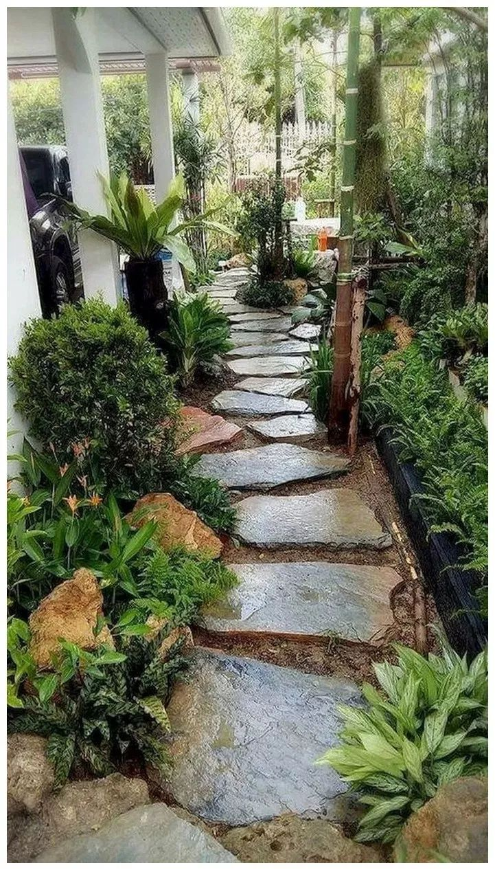 80 Beauty Garden Paths And Walkways Ideas To Increase Your Garden Beauty : solne...
