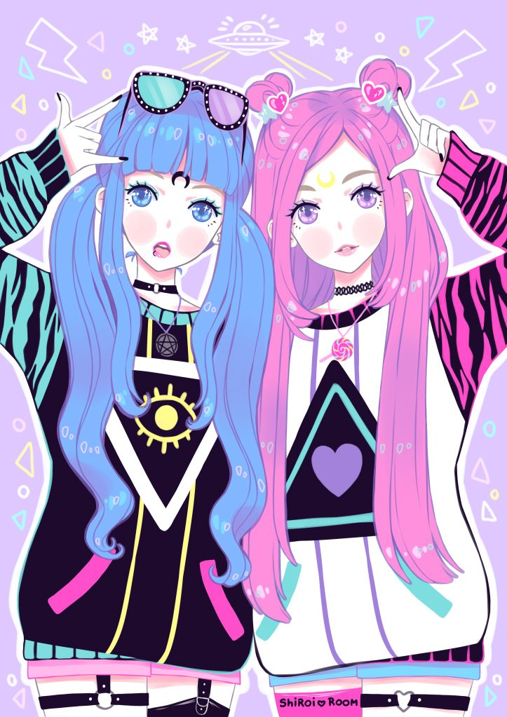 """shiroiroom: """"Alien twins from outer space make their best to make this planet ..."""