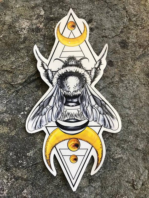Bumble Bee Tattoo, Bumble Bee, Bee Temporary Tattoo, Geometric Tattoo, Bumble Be...