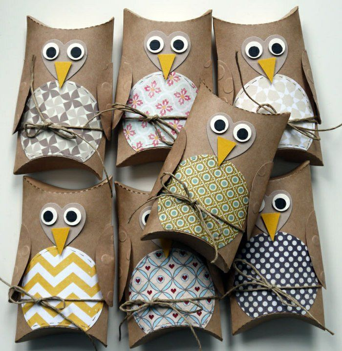 TP & Paper Towel Tube Owls - Make different owls for an Advent Calendar - #Adven...