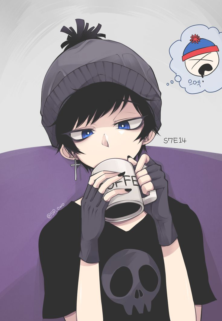 South Park ♥ #Cartoon #Anime #Art goth Stan