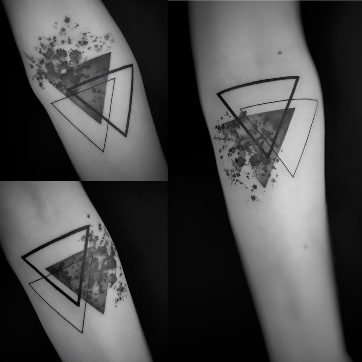 Graphic watercolour triangles tattoo Done by StefK  Besalú Tattoo Catalunya