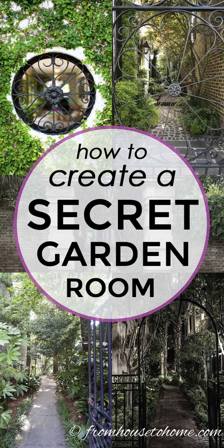 Lots of beautiful ideas for creating a secret garden room in your own backyard. ...