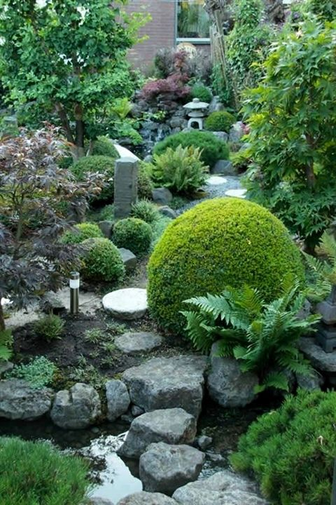 I built the whole japanese garden around the stream and tried to make it as natu...