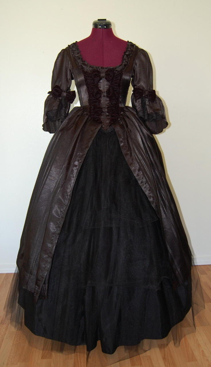 Beautiful Black Victorian inspired goth anime dress. $225.00, via Etsy.