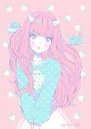 Image result for pastel goth anime girl