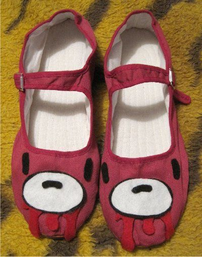 OOAK Grizzly Gloomy Bear inspired Mary Janes shoes Adult Size 9( Scene,emo,anime...