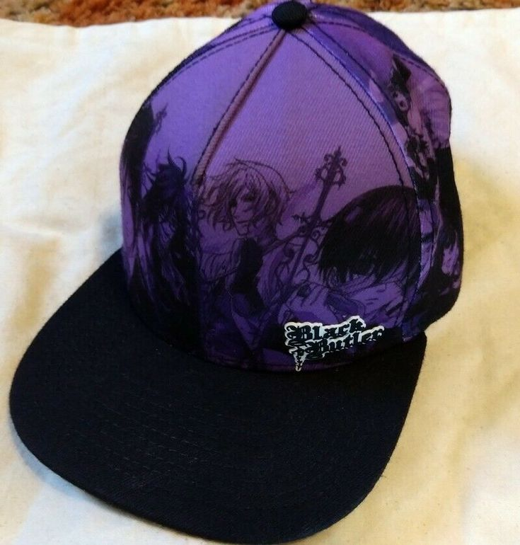 Black Butler Purple Cap Hat Goth Anime Manga Snapback #BlackButler