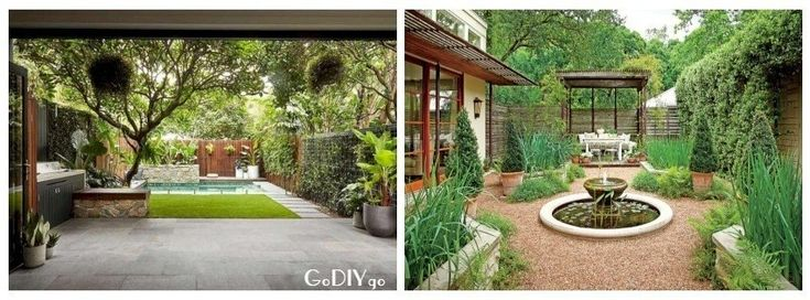 Courtyard garden can be a beautiful space in which to relax and grow plants even...