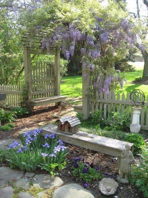 Love this garden gate | gardens, garden ideas, garden design, flowers, backyard ...