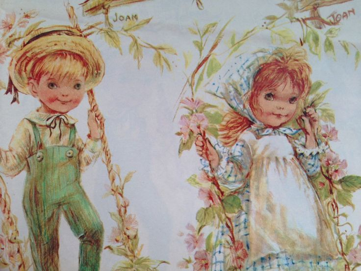 Vintage Gift Wrapping Paper by Hy-Sil Country Cuties Boys   Etsy