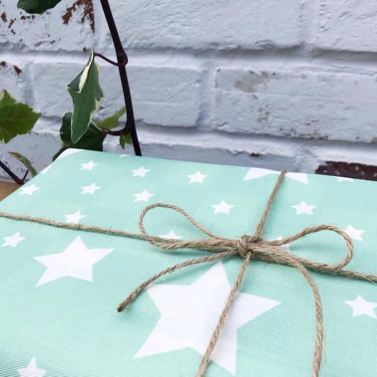 Stars Organic Reusable Gift Wraps - Eco Friendly Gift Wrapping Paper