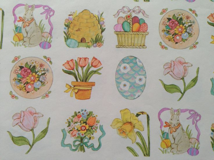 Vintage Gift Wrapping Paper Happy Easter Paper Traditional | Etsy