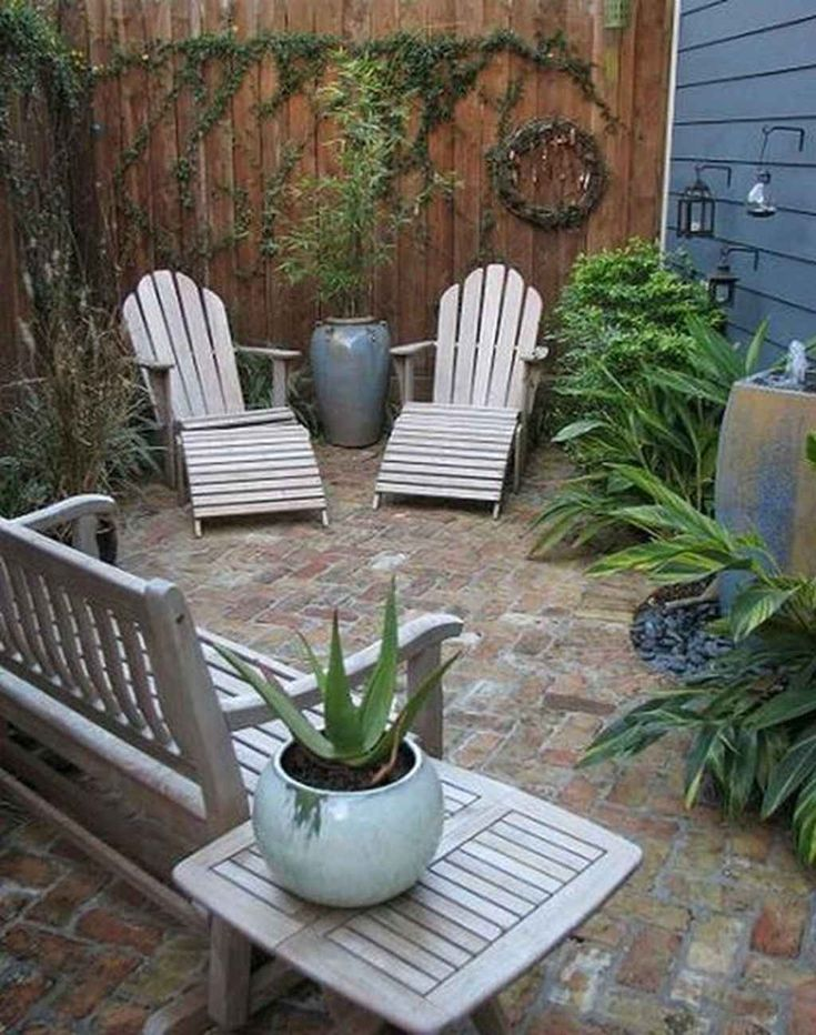 Gorgeous 95 Small Courtyard Garden with Seating Area Design Ideas source link: s...