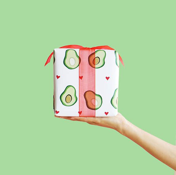 Funny Avocado Wrapping Paper...Wrapping Paper...Funny Holiday