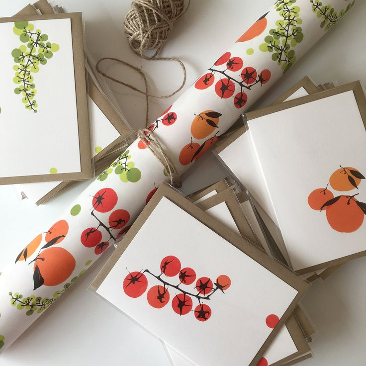 Garden Fruit And Vegetable Wrapping Paper gift wrap sheets   Etsy