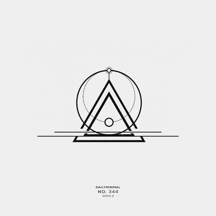 No. 344 A new geometric design every day DAILY MINIMAL is also on Instagram ! Fo...