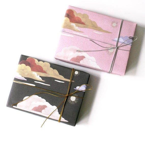 Clouds Wrapping Paper,Valentine's Day Gift Wrap,Chinese Painting Wrapping Sh...