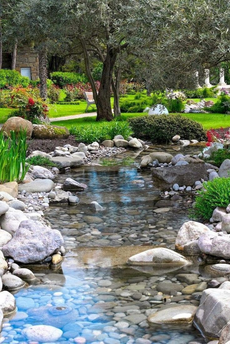 01 Beautiful Backyard Ponds and Water Garden Landscaping Ideas