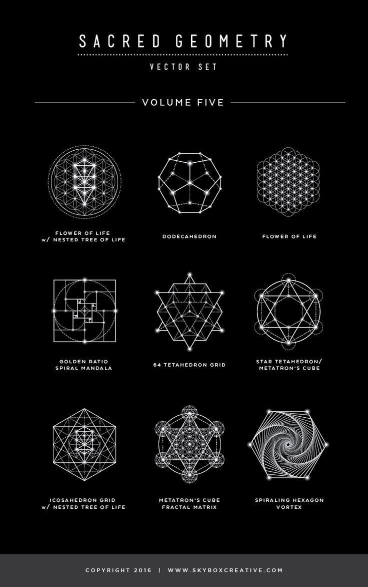Sacred Geometry Vector Illustrations - Vol. 5 Naming Guide  #SacredGeometry #Met...