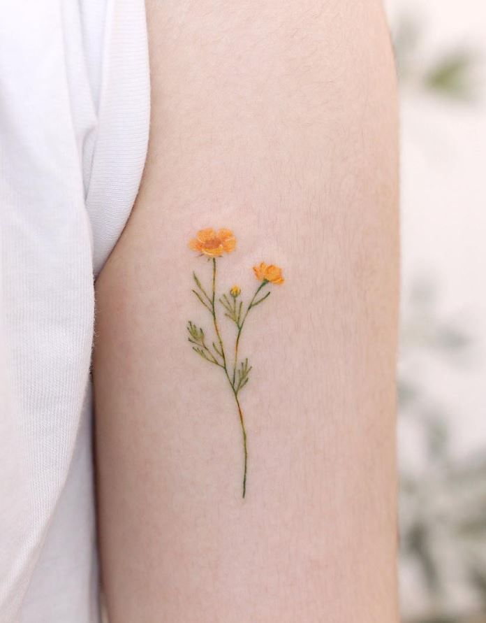 60 Cute And Small Tattoos for Girls Game of Spoons #flowertattoos