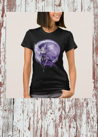 Purple Moon Gothic Anime Fairy shirt #purple #moon #fairy #gothic #egl