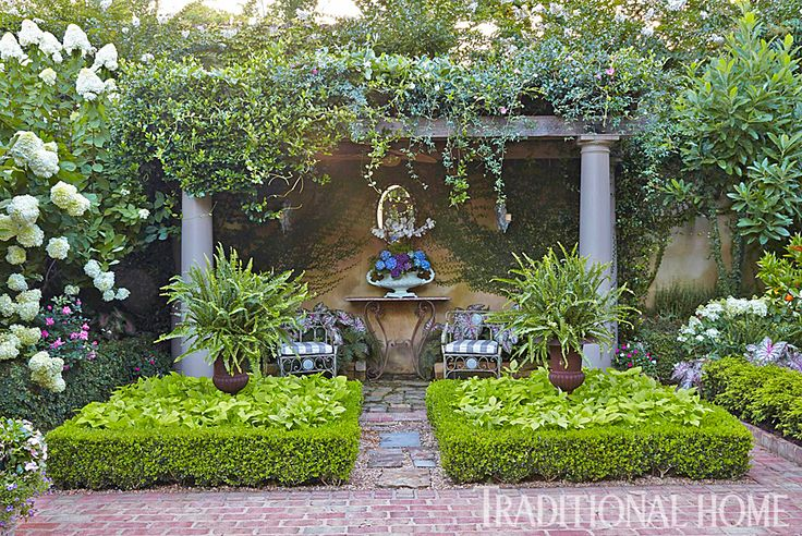 Carns Garden. Shaded Arbor and Sitting Area  An arbor offers a shady spot along ...