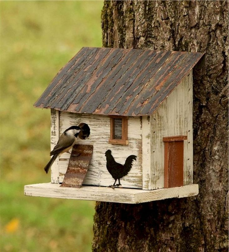 36+ Best Popular Birdhouses Rustic For Your Beautiful Garden #birdhouses #rustic...