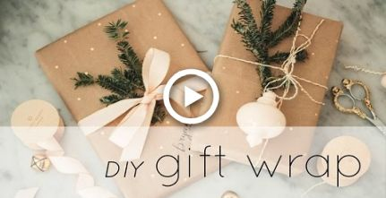 DIY Gift Wrap Tutorial & Ideas: How to Make Wrapping Paper from a Whole Foods Bag! | Chic
