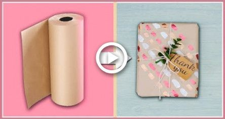DIY Gift Wrapping Ideas For Anyone Who Doesnt Want To Be Basic  / Easy Brown Paper Gift